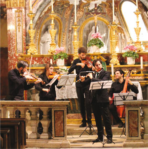 Concerto giovani Santuario Dipartimento di Musica Antica del Conservatorio di Torino