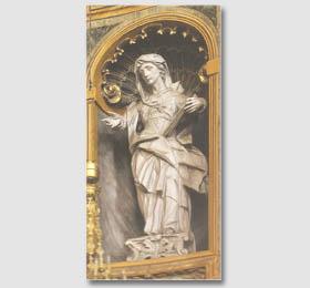 Statua lignea raffigurante Sant´Anna nel Santuario di Sommariva del Bosco